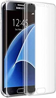 واقي شاشة زجاجي واقي لسامسونج جالاكسي s7 إيدج - شفاف - شاشة كاملة - منحنية