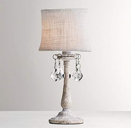 Zenghh Lublin Art Deco Illuminate-lampka nocna, styl świecznika 1 lampa stołowa z wolnymi sferycznymi wycięciami szkła kryształowego kroplomierza, w materiałach metal, jasnoszary kremowy antyczny (A ++ do E)