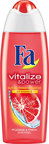 Fa Duschgel Vitalize & Power Duft der Pinken Grapefruit mit Vitamin C, 6er Pack (6 x 250 ml)