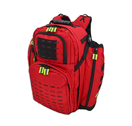 Lightning X TacMed ALS Oxygen Trauma Backpack w/Modular Pouch System - RED
