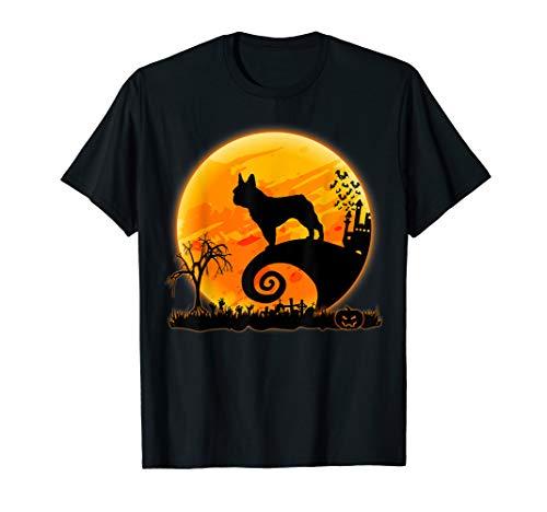 フレンチブルドッグ犬と月面白いハロウィンコスチューム T-Shirt