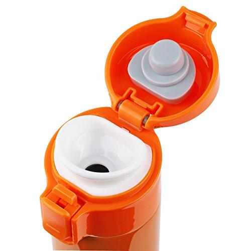 パール金属 水筒 ワンタッチ 直飲み マグ 350ml オレンジ HB-3910