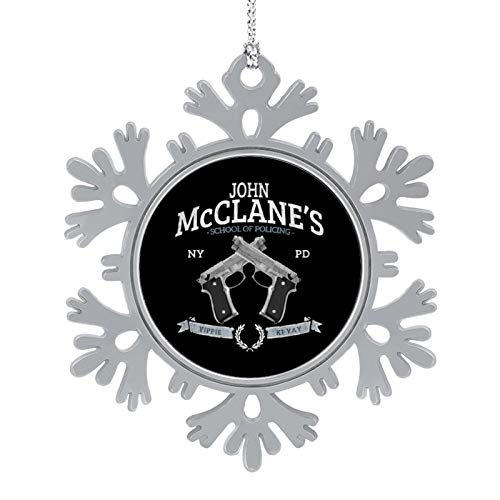 BEDKAGD John McClanes School of Policing Die Hard Christmas Hanging snowflake Alloy decorations,Christmas souvenirs, personalized holiday decorations.