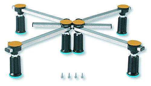 Aqualuxbad Duschwannenfuß Wannenfuß für Stahl/Acryl Duschwannen 75x75 bis 120x120cm Höhenverstellbar von 125 bis 185mm