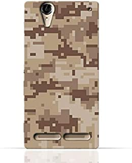 Sony Xperia T2 Ultra TPU Silicone Case with Desert Military Camouflage Design