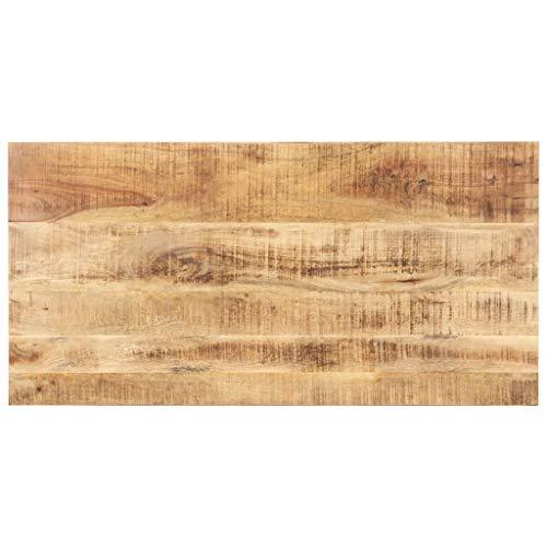 vidaXL Mangoholz Massiv Tischplatte Massivholzplatte Holzplatte Ersatztischplatte Holz Platte für Esstisch Esszimmertisch 15-16mm 140x60cm