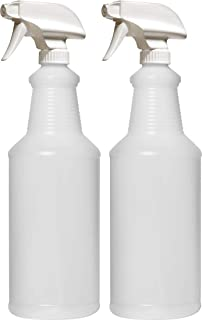 Bar5F Empty Plastic Spray Bottles 32 oz. for Cleaning and Chemical Solution, Leak Proof with Adjustable Head Sprayer from Fine to Stream (Pack of 2)