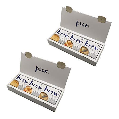 味の加久の屋 brew プレミアムおつまみ 3個セット×2箱(青森県産青森シャモロックのアヒージョ、ウニ入りホタテマヨネーズ、いわしの和風マリネ)