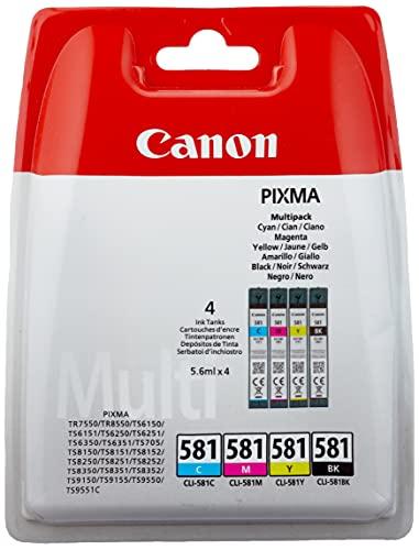 Canon CLI-581 Multipack 5.6ml 5.6ml Nero, Ciano, Magenta, Giallo cartuccia d'inchiostro