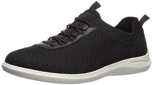 Aravon Women's PC Mesh Bungee Sneaker, Black Knit, 7 Wide