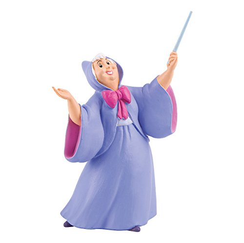 Bullyland 12359 - Spielfigur, Walt Disney Cinderella, Gute Fee, ca. 11 cm groß, liebevoll handbemalte Figur, PVC-frei, tolles Geschenk für Jungen und Mädchen zum fantasievollen Spielen