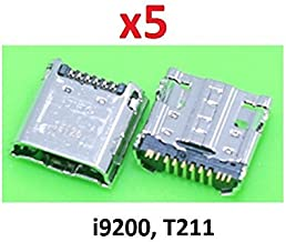 Walking Slow-5 Piece Replacement Charging Port Dock Connector Micro USB Compatible with Galaxy Mega 6.3 i527 i9200 i9205 & Tab 3 7.0 SM-T211 (Soldering Needed)