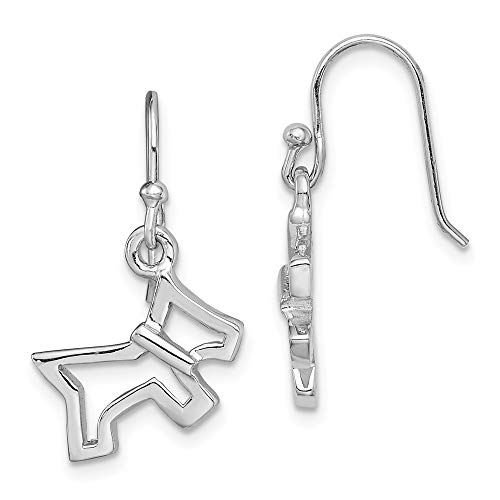 925 Sterling Silver Dog Drop Dangle Chandelier Earrings Animal Cat Fine Jewellery For Women Gifts For Her