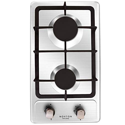 NOXTON Gas Cooktop Hob Gas Stove Top 2 Sealed Burners in...