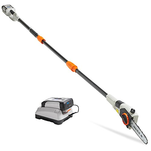 "VonHaus 40V Max Cordless 20' Pole Hedge Trimmer with 83.8"" to 107.5"" Telescopic Extension - Includes 2.0Ah Battery and Charger"