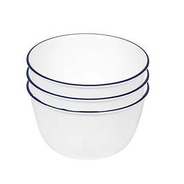 Corelle Livingware 28-Ounce Super Soup/Cereal Bowl, Navy Blue (3 Bowls) by Corelle Coordinates