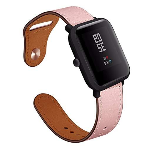 Fhony Correa Compatible with Apple Watch 38Mm 40Mm 42Mm 44Mm Correa de Cuero Genuino con Adaptadores de Metal Correa de Repuesto for Iwatch Series 6/5/4/3/2/1,Rosado,38/40mm