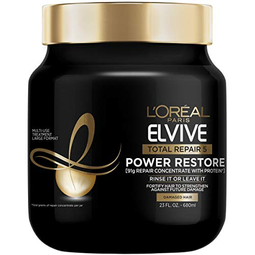 L'Oreal Paris Elvive Total Repair 5 Power Restore Multi Use Treatment with 91g of Repair Concentrate with Protein per Jar, 23 fl. oz.