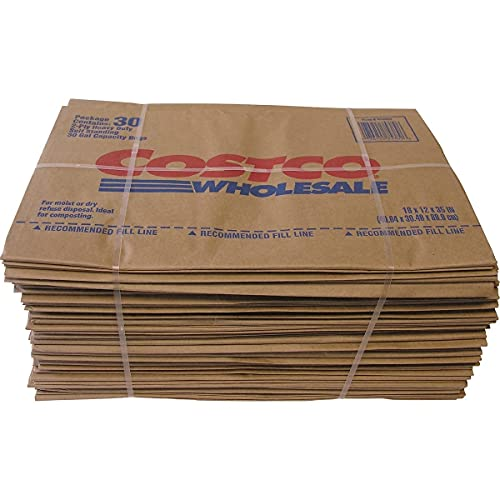30 Gal. Lawn and Leaf 2-Ply Heavy-Duty, Self Standing Yard Waste Compost Paper Bags Disposal - 30 Count