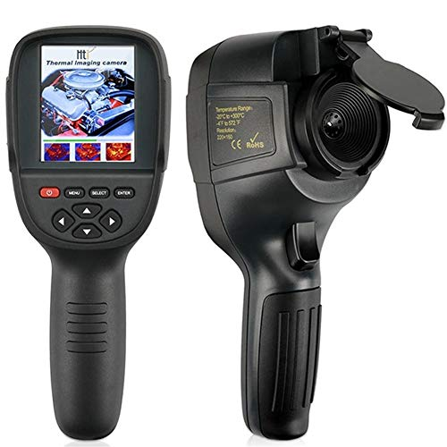 Ouqian Wärmebildkamera 220x160 Hand Infrarot-Wärmebildkamera Digitale Tester Buit-4G Speicher mit 3.2inch Wärmebildkamera (Farbe : Black, Size : A)