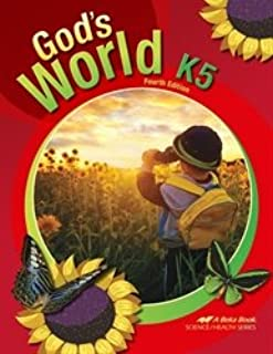 God's World K5 - Abeka 5 Year Old Kindergarten Science Student Text Book