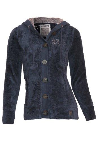 Sublevel Teddy Fleece Jacke mit Öhrchen, Größe:M;Farbe:Dark Blue
