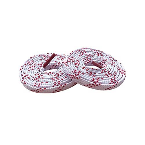 Ejecución de cordones plana blanco y rojo rayas de poliéster tela del...