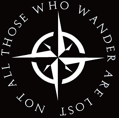 H-Tradings LOTR Not All Those Who Wander are Lost Sticker Decal Notebook Car Laptop 5' (White) Approximately