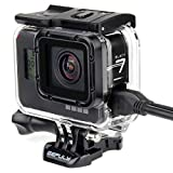 GEPULY Skeleton Protective Housing Case for GoPro Hero 7 Black, Hero 6 Black, Hero 5 Black, Hero (2018) Action Camera - Skeleton Housing Case Offers Better Audio Recording and Heat Dissipation