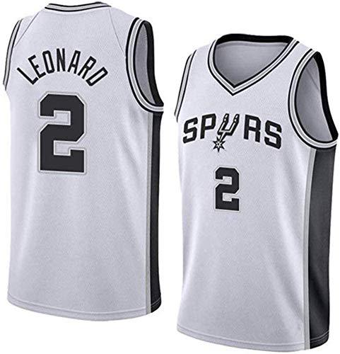 TGSCX NBA San Antonio Spurs # 2 Kawhi Leonard Respirable Fresco de Tejido de Punto de Baloncesto de Moda Retro clásico del Chaleco sin Mangas de la Camiseta Unisex,B,XXL