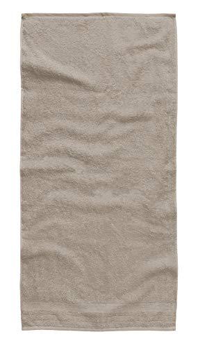 TOM TAILOR 0100111 Toalla de Felpa, algodón Peinado, Prenda teñida 50x100 cm, Stone