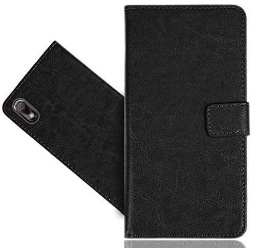 Wiko View 2 Go Handy Tasche, FoneExpert® Wallet Hülle Cover Genuine Hüllen Etui Hülle Ledertasche Lederhülle Schutzhülle Für Wiko View 2 Go