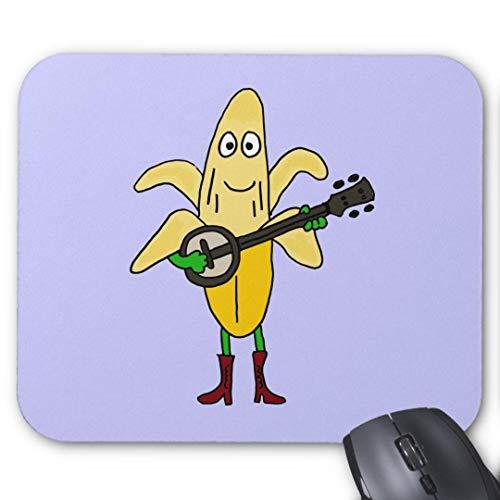 Mauspad/Mauspad, rutschfest, rund, für Computer/Laptop, 20 x 24 cm, Bananenspieler
