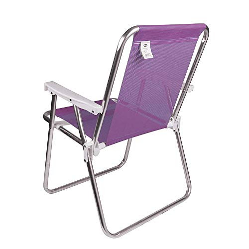 Mor 002291 - Cadeira Alta Alumínio, Roxo (Lilás)