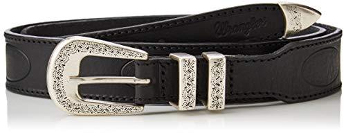 Wrangler Saloon Belt Cinturón, Negro (Black 100), 110 (Talla del fabricante: 95) para Mujer