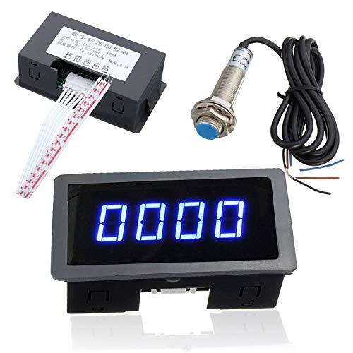 SIMNO JIAHONG tacómetro 4 LED Azul tacómetro Digital RPM tacómetro Interruptor de proximidad del Sensor Hall NPN +