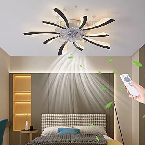Ventilador de techo con iluminación LED Luces de techo Regulable Control remoto silencioso moderno Lámpara techo sincronización Luz techo Sala estar Dormitorio Habitación infantil Comedor,9(50w)