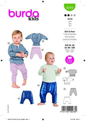 Burda 9278 Schnittmuster Shirt und Hose (Kids, Gr. 56-86) Level 2 leicht