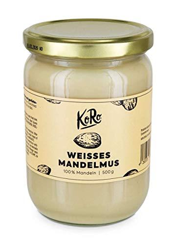 KoRo - Purée d'amandes blanches | 500 g - Crème de noix sans sucre ni sel, sans additifs - Crème de noix végétalienne à base de 100% d'amandes
