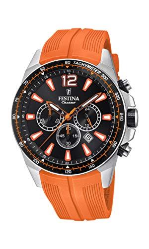 Festina Herren Chronograph Quarz Smart Watch Armbanduhr mit PU Armband F20376/5
