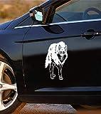 Promini - Adhesivo de vinilo antipolvo, diseño de perros de Siberia Trineo para coche, moto, decoración de personalidad para coche, ordenador portátil, ventana de 6 pulgadas