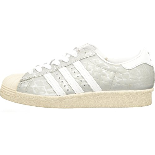 ADIDAS SUPERSTAR 80s W SILVER WHITE Originals US 5 1/2 EU 36 2/3