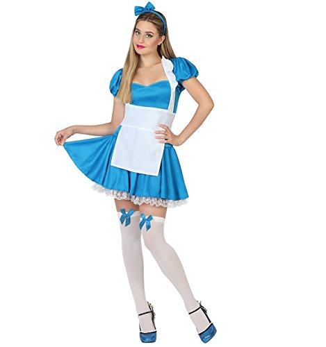 Atosa 26368 - Costume per Travestimento da Alice nel Paese delle Meraviglie, Donna