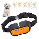 Queenmew Dog Barking, Beep & Spray Anti Bark Collar, Rechargeable Dog Training Collar