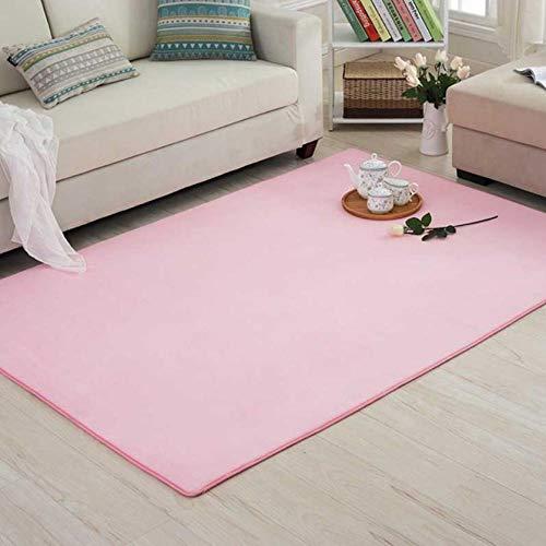 chenxiangy Vloerkleed van verdikt koraalvlies, glad tapijt, antislip, voor de woonkamer, kussen, slaapkamer, kussen, bed, tatami, matras, 60 x 160 cm