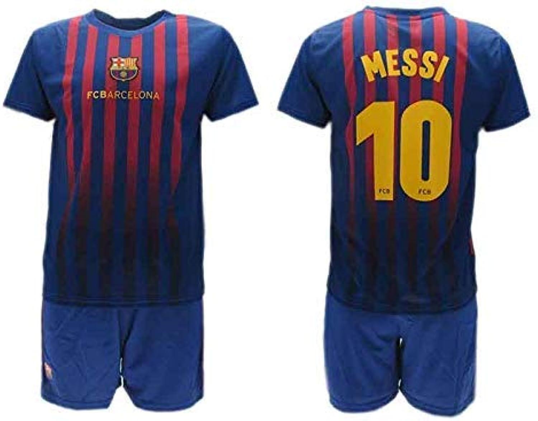 Komplett Offiziell Shirt  Short Fußball Lionel Lionel Lionel Leo Messi 10 Barcelona Blau Grana Home Saison 2018-2019 Replica OFFIZIELLE mit Lizenz B07KJF73KD  Hohe Qualität und geringer Aufwand 47f1a3