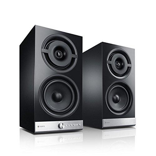 Teufel Raumfeld Stereo M WLAN-Regallautsprecher-Paar schwarz (Streaming, Wireless, WLAN, verlustfrei, Spotify, App)