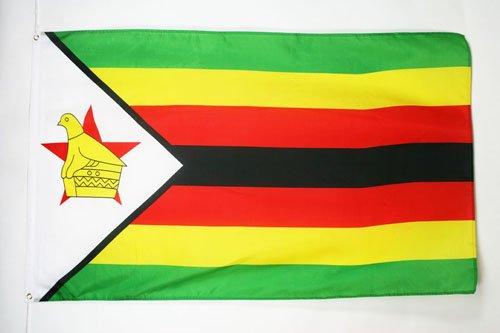 AZ FLAG Flagge SIMBABWE 150x90cm - Republik SIMBABWE Fahne 90 x 150 cm - flaggen Top Qualität