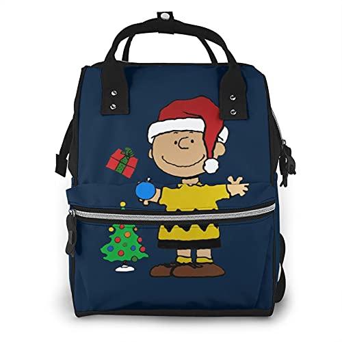 Charlie Brown Christmas 多機能ベビーおむつバッグおむつバックパックベビーケアバッグショルダーバッグママパパのための大容量