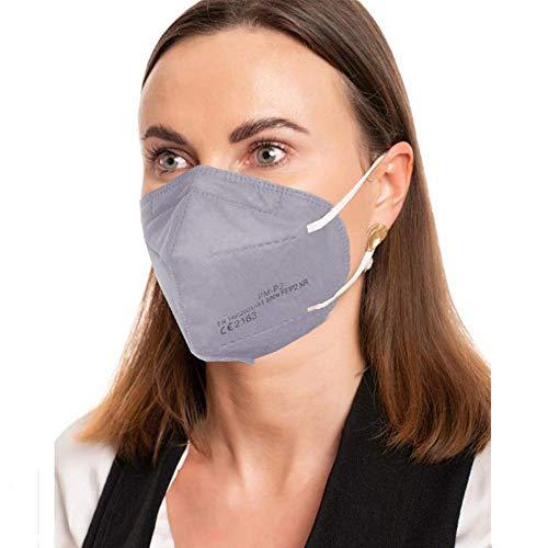 ProMedicalCare. Mundschutz FFP2 Maske grau, Mundschutz Maske FFP2 grau, Masken Mundschutz FFP2, 5er Pack